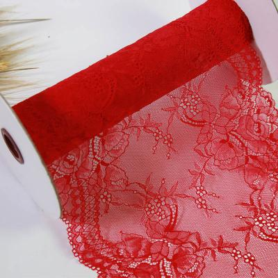 light and pretty red trim lace